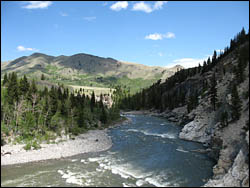 "God's Country - Oldman River in ""The Gap"""